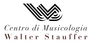 Logo Centro di Music. Stauffer